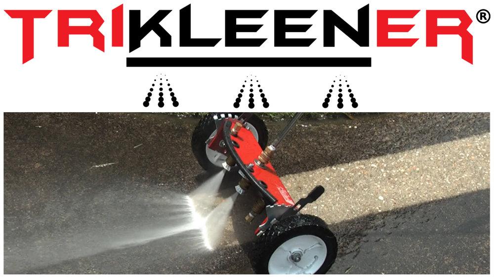 Flat Surface Cleaner Pressure washer attachment trikleener bilker