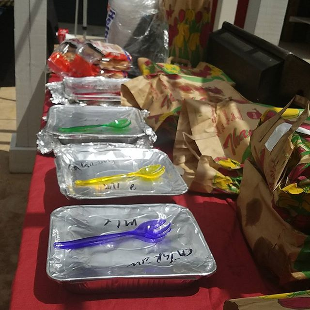 FOOD'S HERE! We're ready to get started at The Ikon for our LGBT BBQ! 314 Barnett Shoals Rd Athens, Ga!