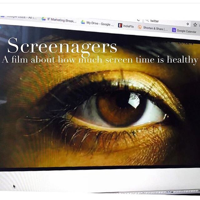 Coming soon- an @indieflix original! @screenagers_movie The average time youth spend on social networking, video games and other screens is 7.5 hours a day #original #movie #screenagers