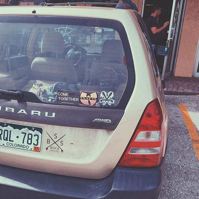 SPOTTED: Come Together Records sticker spotted earlier today, next to the Wu. We're honored.