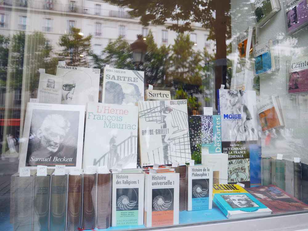 A French philosophy bookstore- heaven.