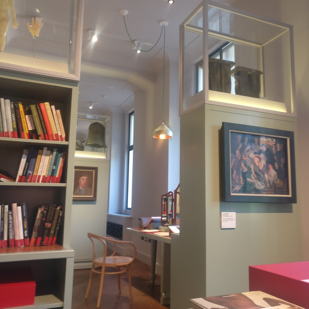 The reading room of the Wellcome Institute where I sometimes write at the weekend. Highly recommended for fellow Londoners.