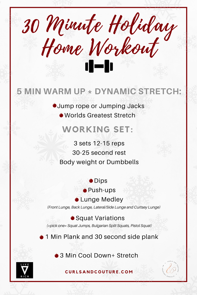 30 Minute Holiday Home Workout