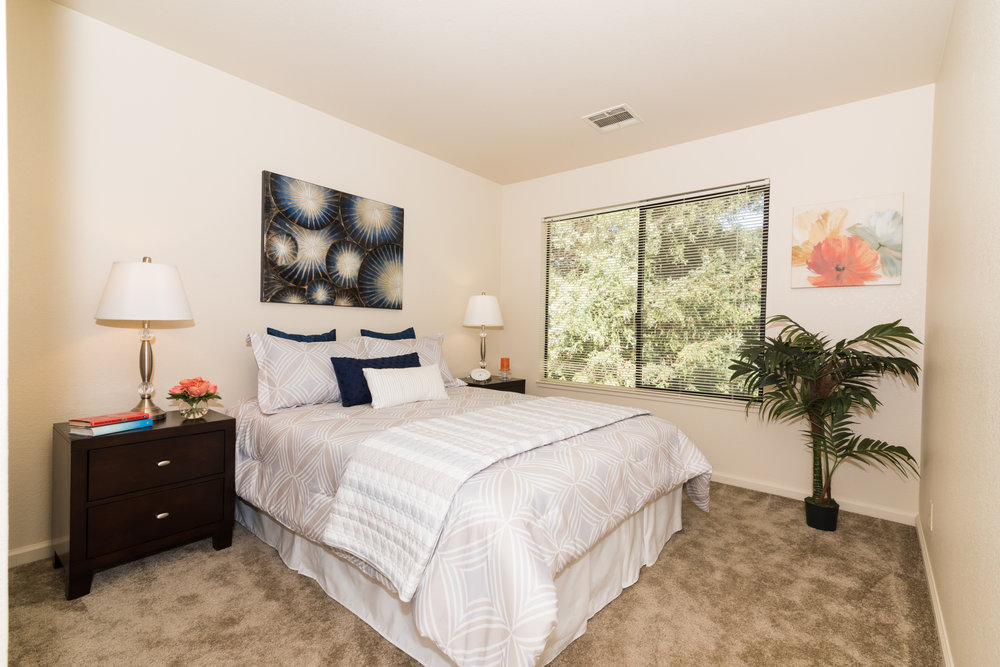 Master Bedroom in Rental Townhome