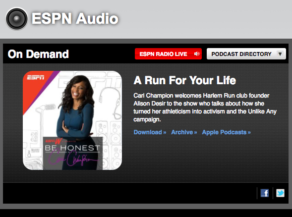 ESPN: Cari Champion - Be Honest Podcast
