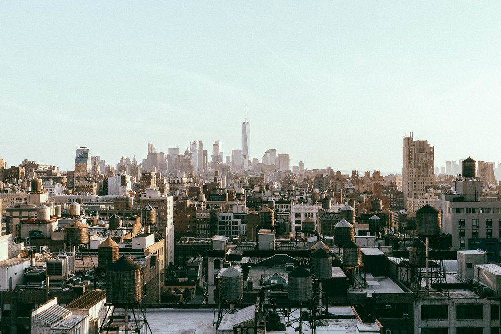 Skyline Manhattan financial district one world trade center