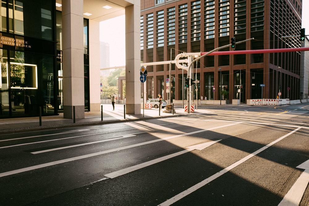 Licht Sonne Frankfurt Finanzviertel Banken