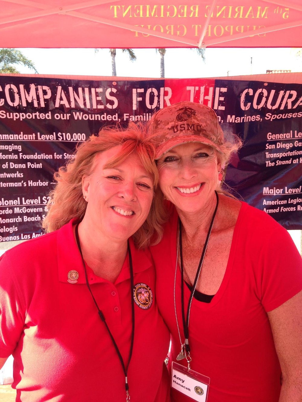 Volunteering for the Dana Point 5th Regiment Marines with volunteer mom Sheri Schneringer