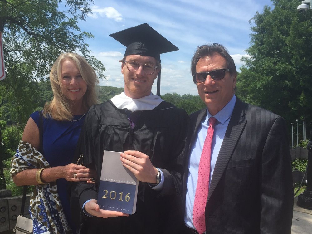 John's Georgetown graduation 2016 for Masters of Art in Communication, Culture and Technology
