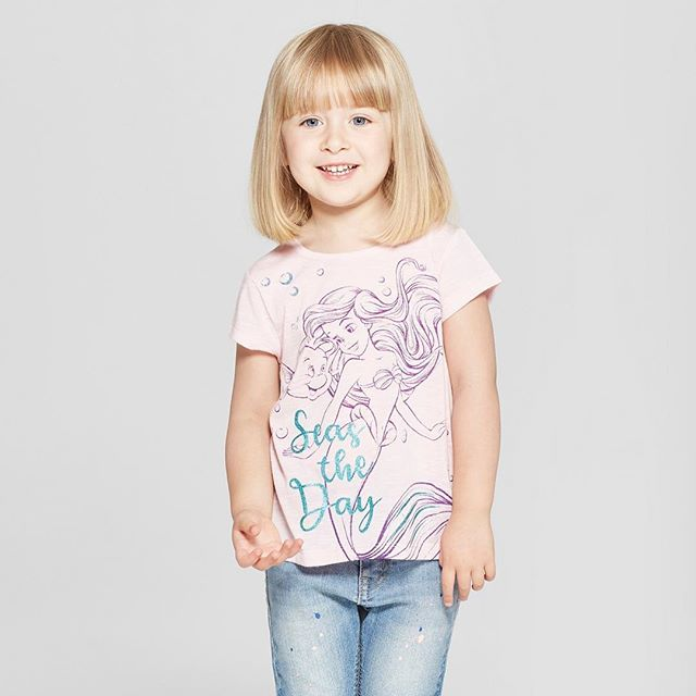 Your daughter will seas the day wearing our Little Mermaid t-shirt! Find this top now on Target.com. Click the link in our bio to purchase. 🧜‍♀️ 🐠 🌊 #ariel #thelittlemermaid #disney #disneyprincess #toddlergirl #graphictee #girlstop #toddlerfashion #toddlerclothing #clothing #apparel #childrenswear #fashion #trends #fashiontrends #kidsstyle #kids #style #fashionkids #fashionkidsoftheday #fashionkidsofinstagram #ootd #momlife #momswithkids #momsofinstagram