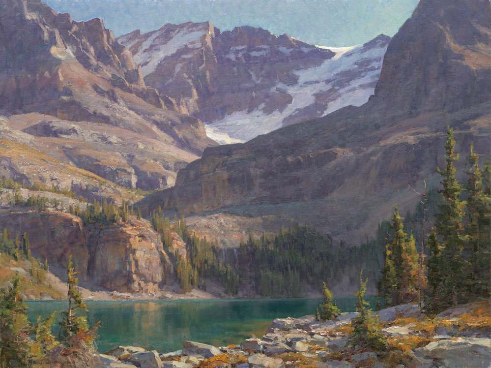 Lake O'Hara. Oil on linen.