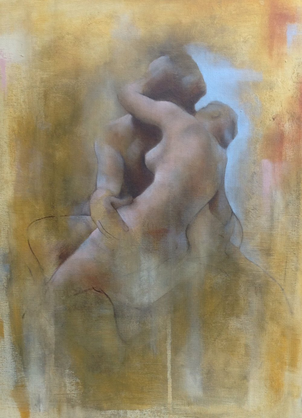 Rodin by Degas, 2014,  oil on canvas