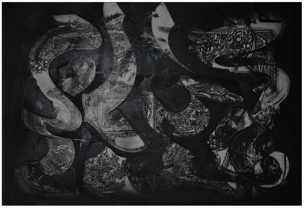 Smoke , 2008, mixed media on paper, 70 x 100cm