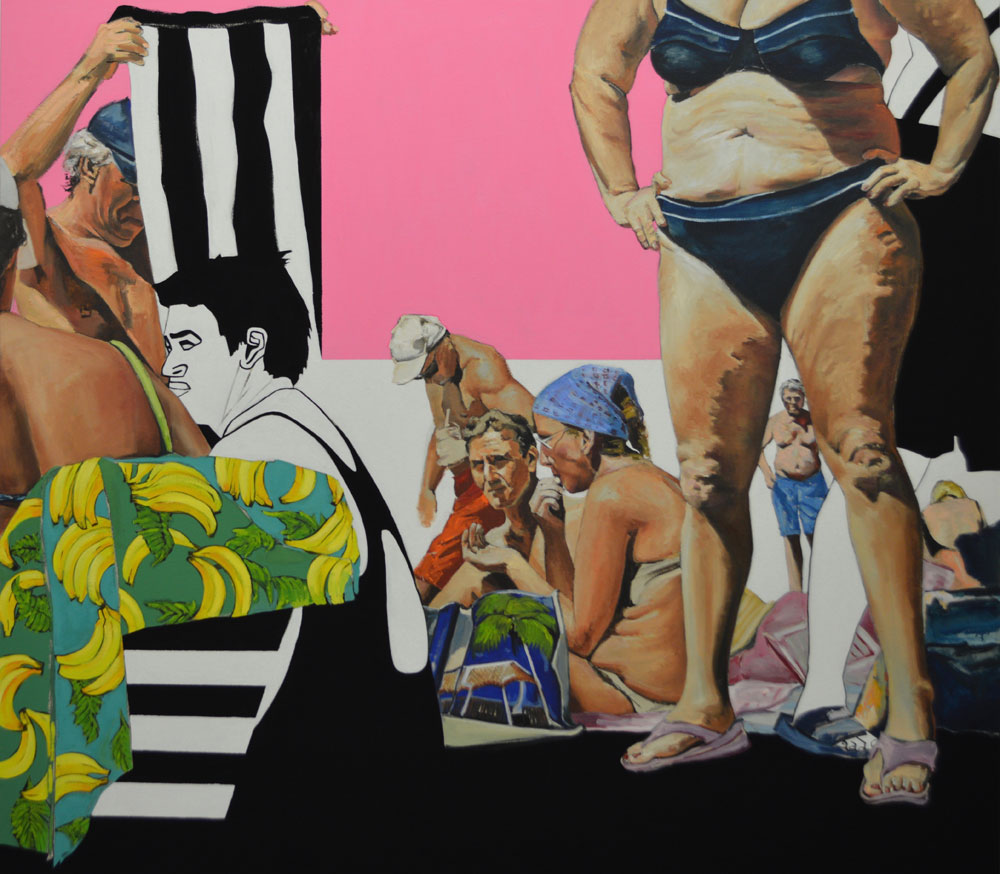 Pretty In Pink , 2015. Oil and acrylic on canvas. 160×180 cm
