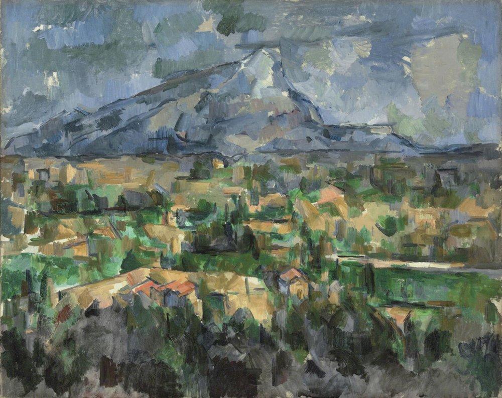 Paul Cézanne,  Mont Saint-Victoire , 1902-4, oil on canvas, 73 x 91.9 cm, Philadelphia Museum of Fine Art, Philadelphia (The George W. Elkins Collection)