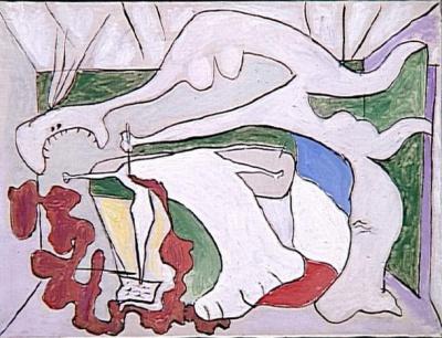 Picasso's  La Femme au stylet  (1931) © Succession Picasso