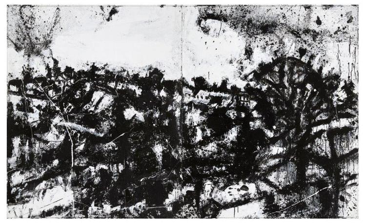 John Virtue's  Landscape No. 174  (1990-92) Courtesy of Albion Barn
