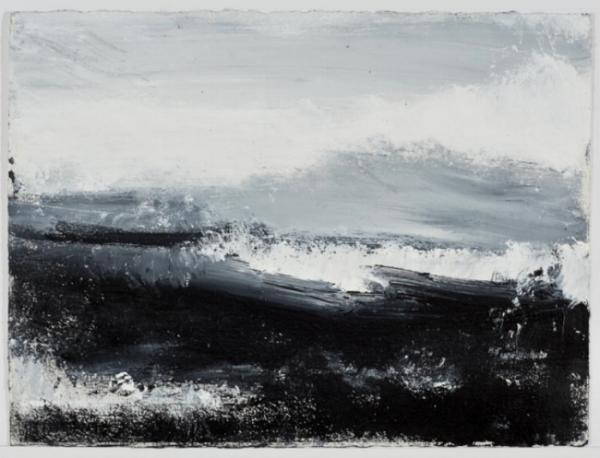 John Virtue's  No. 46  (2012-13) Courtesy Marlborough Fine Art