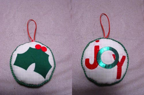 "Christmas ornament made in the ""Up or Down?"" wokrshop."