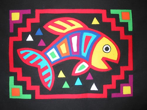 """Funky Fish"" from the ""Funky Fusible Fish"" workshop."