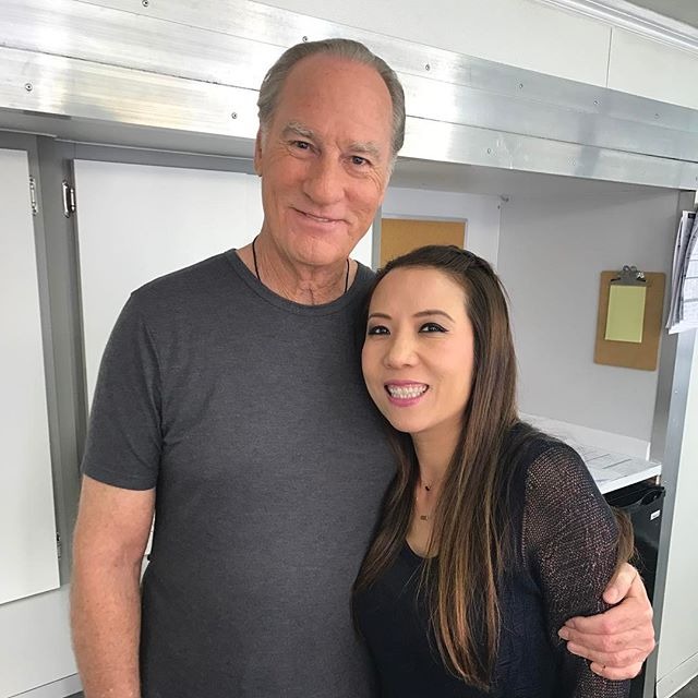 Love working with such amazing funny #craigtnelson on the show . Love this guy, hair by @samanthawenhair make by @lorrainefurmakeup #pilot #peace .
