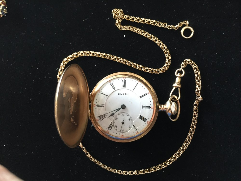 Solid 14K Pocket Watch by Elgin