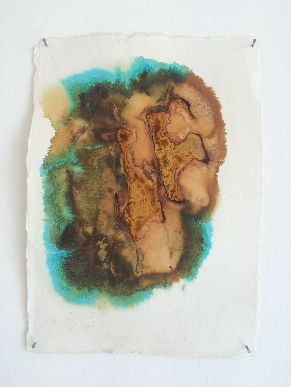 Oxidised Metal on Paper (2015)