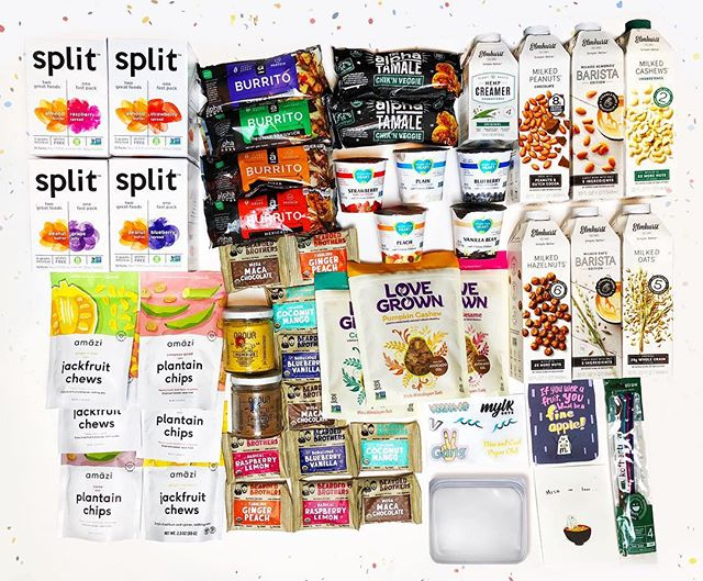 ULTIMATE #VEGAN GIVEAWAY || We're going ALL OUT this last #WellnessWednesday of March, and have partnered with @mlykguys to bring you this amazing Giveaway - figured we'd go out with a BANG.  Rules of entry:⁣ 1.  You must be following us and all the brands tagged: @followyourheart  @splitnutrition  @lovegrown  @stasherbag @obourfoods @alphafoods  @koffiestraw @amazifoods @elmhurst1925  @beardedbros 2.  Tag 3 friends that also must be following us. 3.  Tell us why you love your Amazi snacks in the comments ⁣💗😋 ⁣ Winners will be chosen 4/3 & notified through DM's ⁣ Must be a US resident to enter 🇺🇸⁣ *This competition is not affiliated with Instagram*⁣