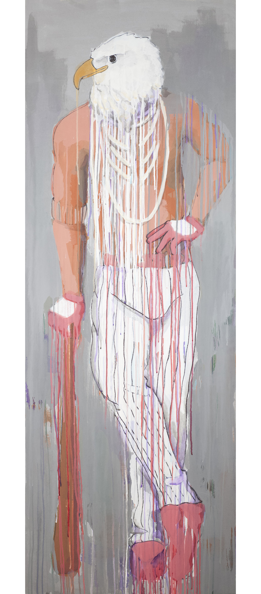 acrylic on canvas, 26in x 72in