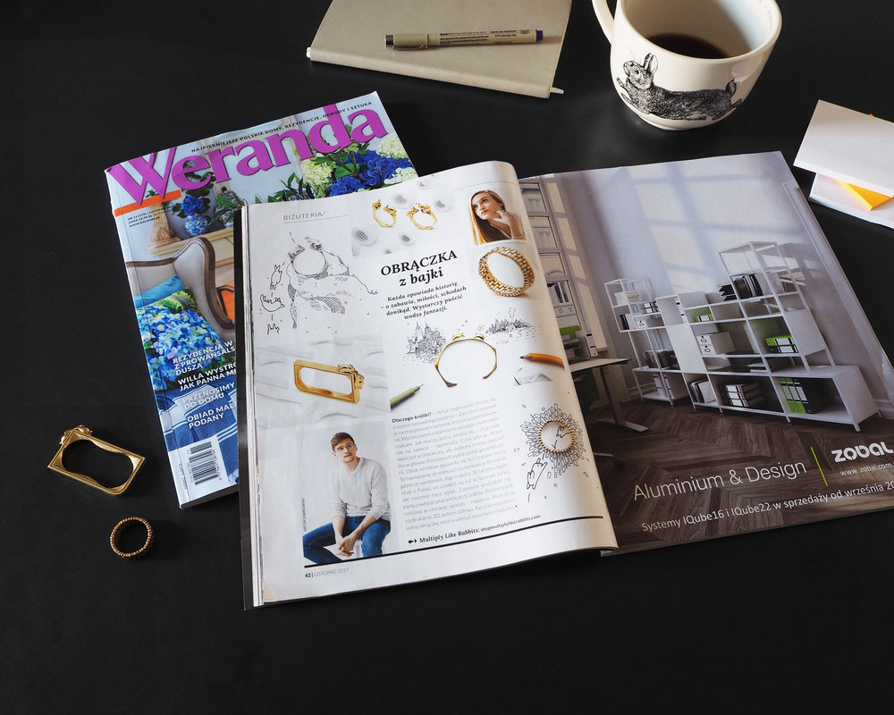 The November issue of Weranda magazine, an interior design magazine in Poland.