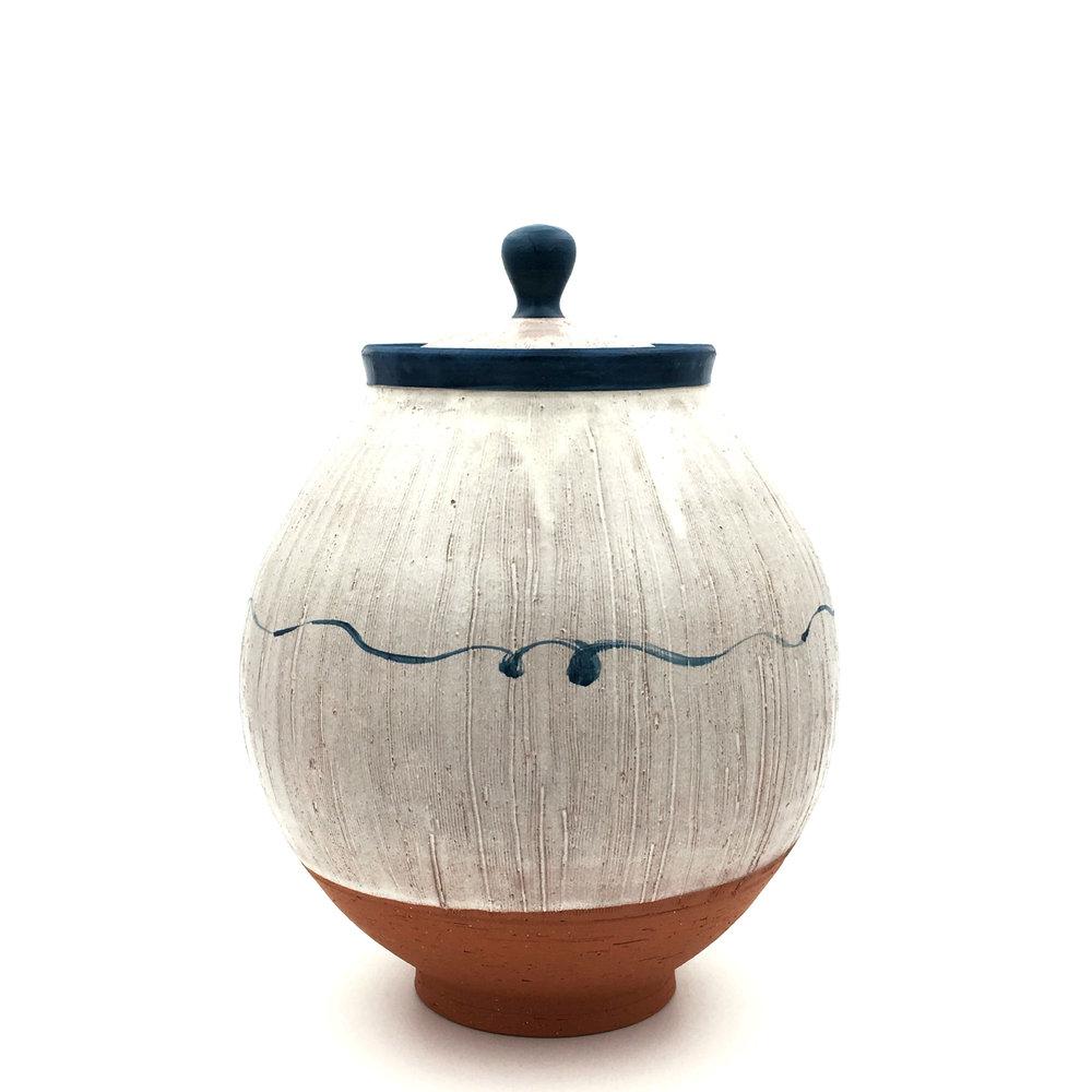 Lidded Jar, earthenware, 2016