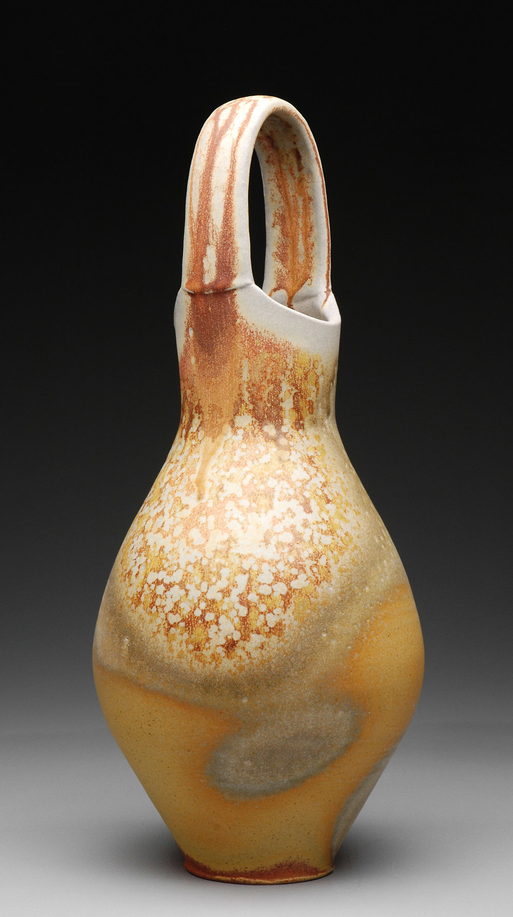 Vase with Handle , soda fired stoneware, 2013