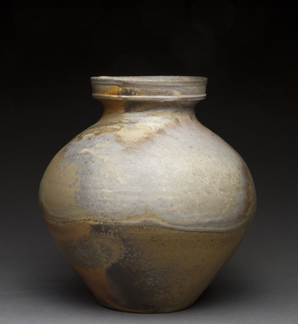 Jar , wood fired stoneware, 2014
