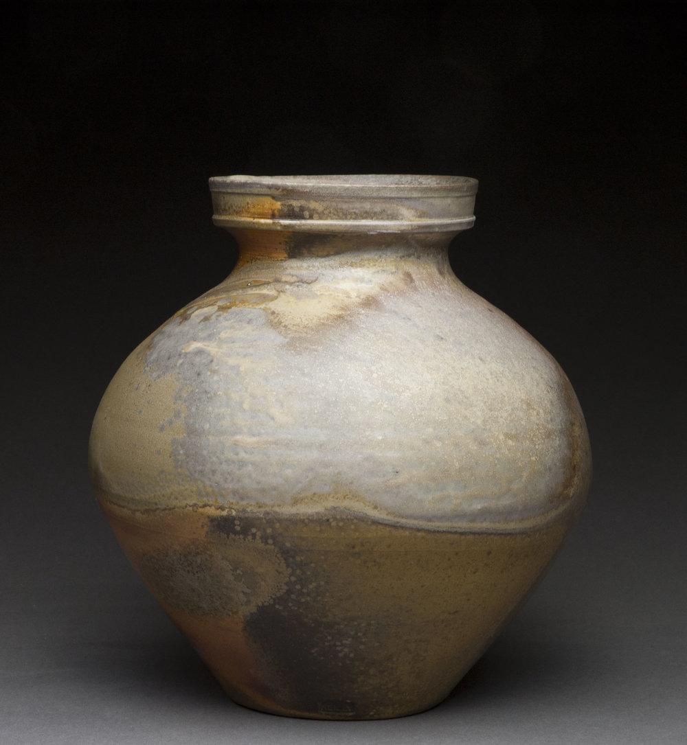 Jar , wood fired stoneware, 2014
