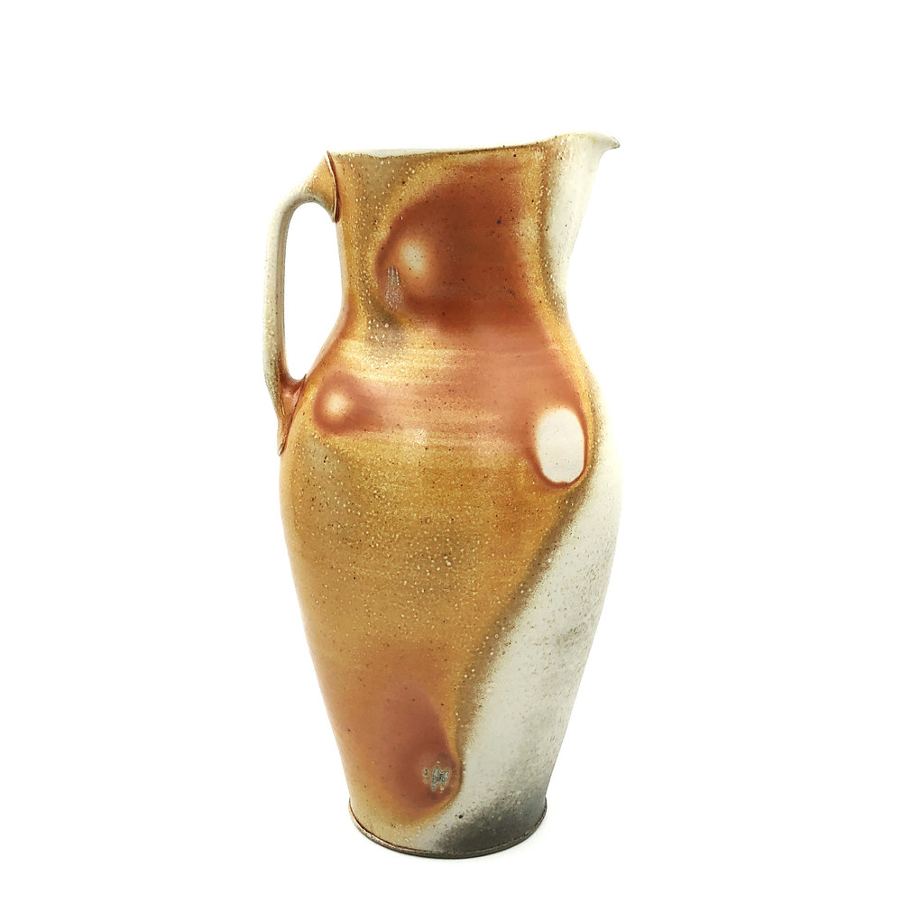 Pitcher , soda fired stoneware, 2018