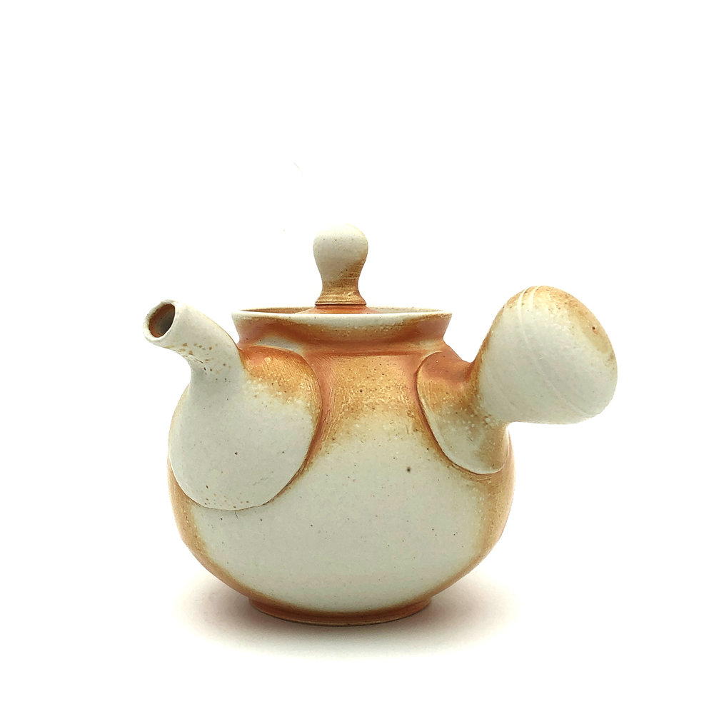 Side-Handled Teapot,  soda fired stoneware, 2018