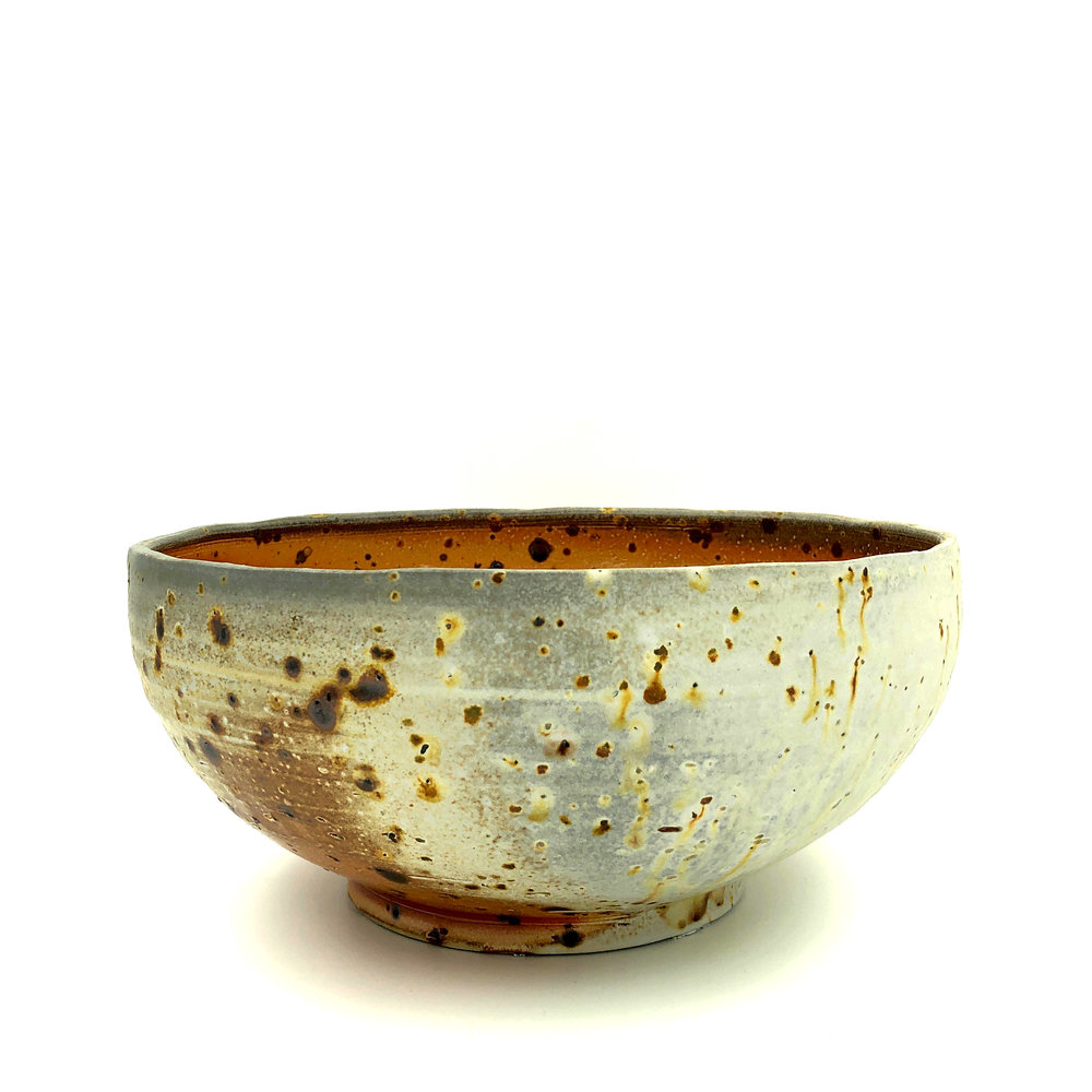 Serving Bowl , soda fired stoneware with coal slag, 2018