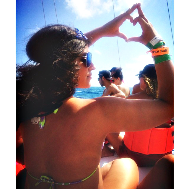 Cancun Blue Headpiece