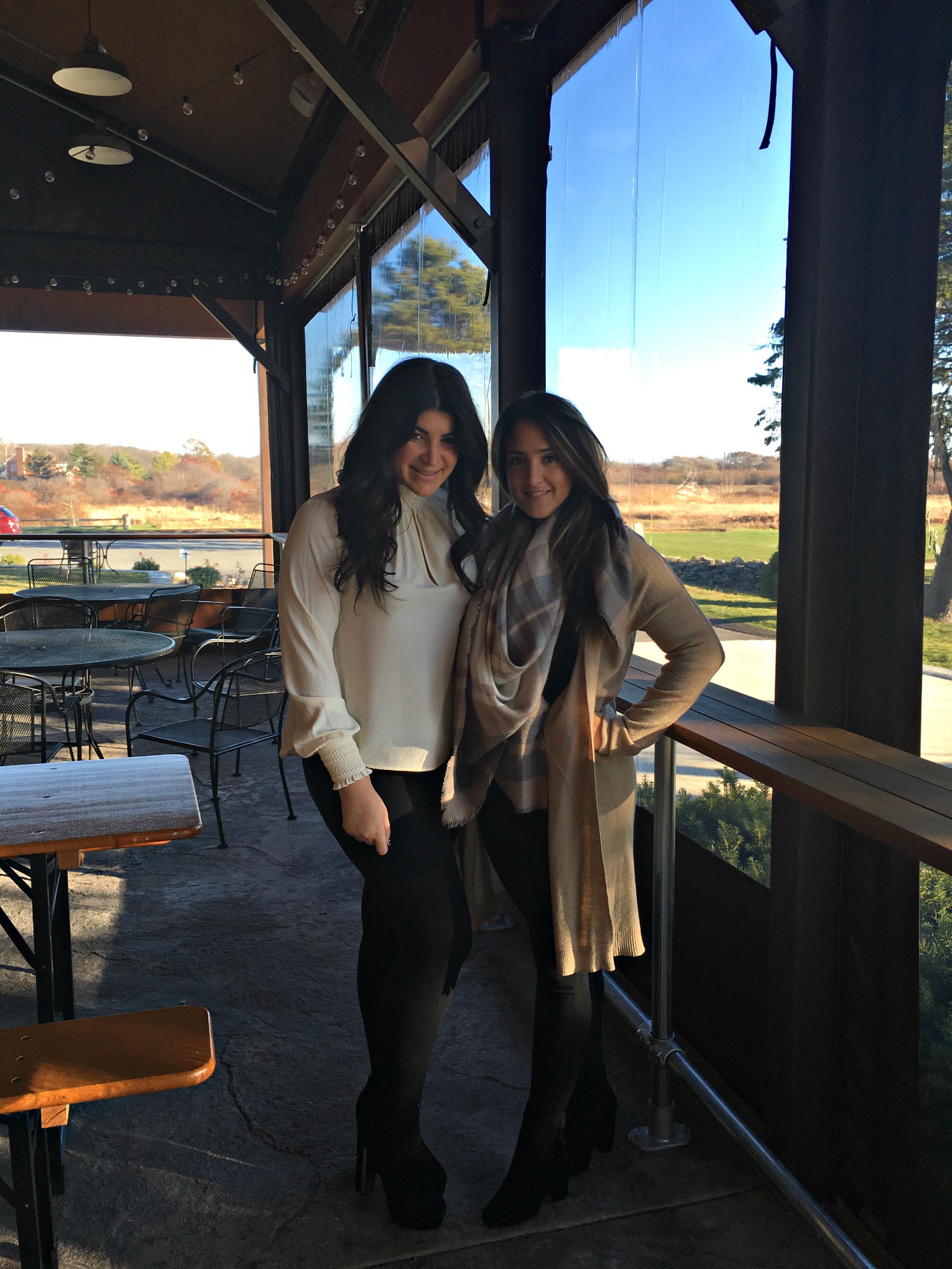 Becca and I at Newport Vineyards
