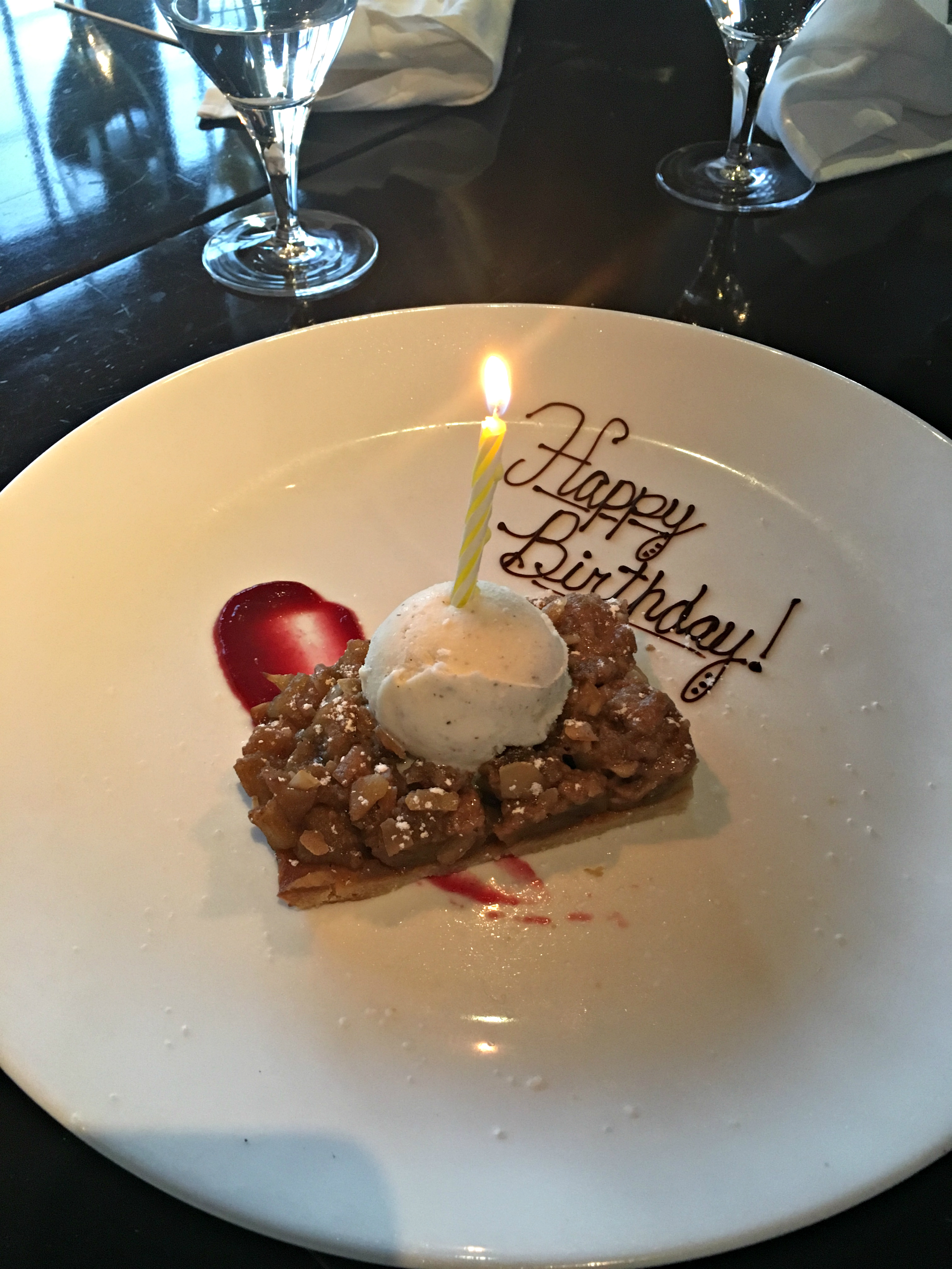 Happy Birthday Apple Dessert