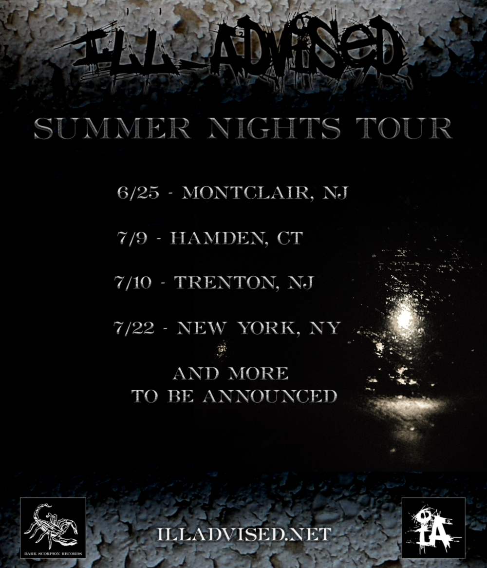 The first string of dates for the SUMMER NIGHTS TOUR have been announced! The tour kicks off tomorrow at 7 PM at the Old Mogul Theatre. More information is available at illadvised.net/tour and facebook.com/illadvised