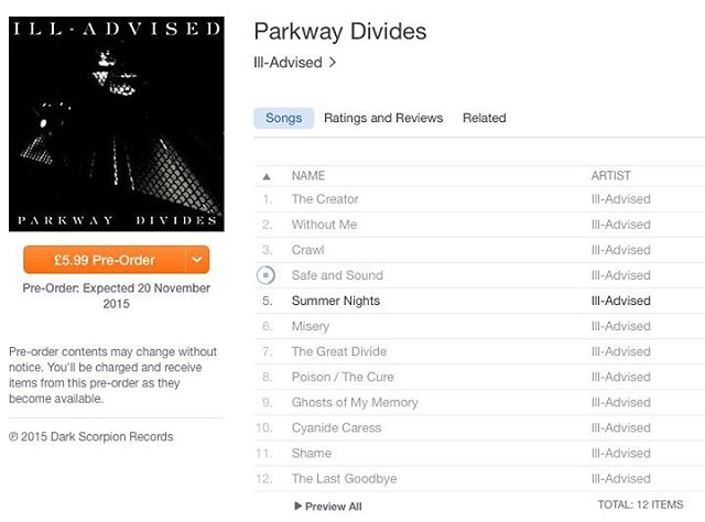 #UK friends! #ParkwayDivides is coming #Nov20! #iTunes #rock #alternative #industrial #punk #metal #electronic #altrock #england #ireland #scotland #wales #greatbritain #europe #music #newmusic #newmusicfriday #preorder