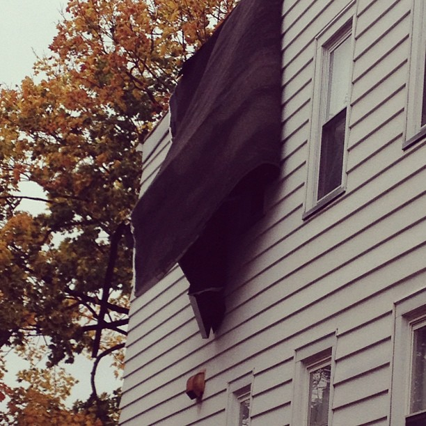 Hurricane Sandy ripped the roof off my house in Jersey.
