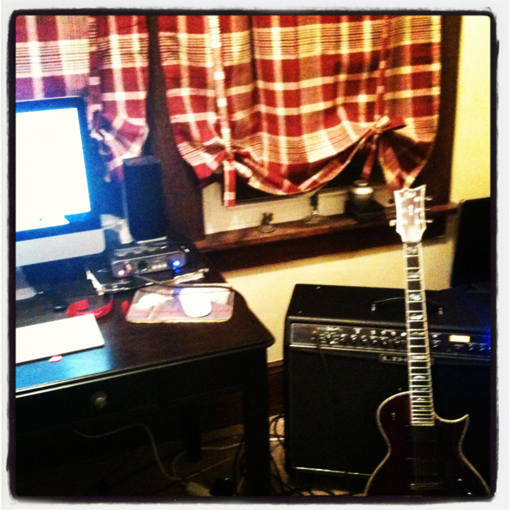 More tracking today: guitar and bass.