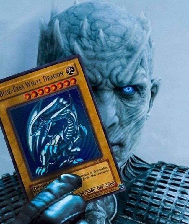 WHITE LIGHTNING? #yugioh #got7 #got #gameofthrones #blueeyeswhitedragon #dragons #damn #whitewalkers