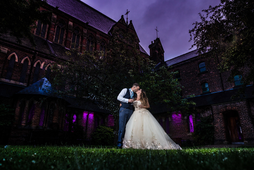 Lee & Anne-Marie, married at Gorton Monastery