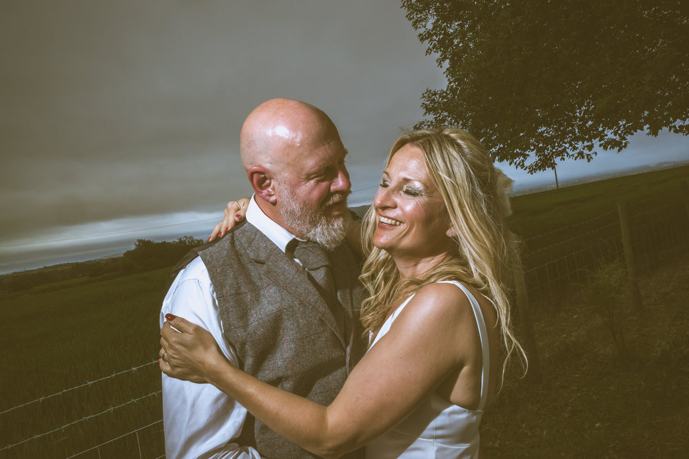 Harry & Racheal, married at Mold registry office.