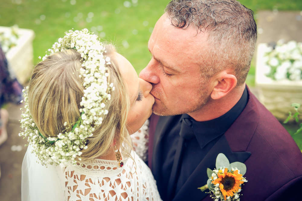Robin & Sarah, Married at Highfield Hall hotel in Northop.