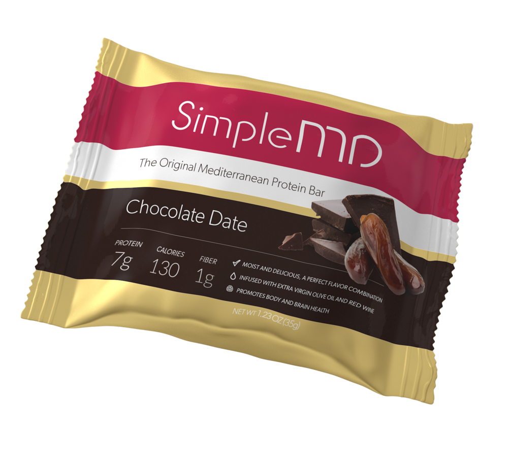 Dates have been cultivated in the Mediterranean region for thousands of years, and for good reason; they taste wonderful and are an excellent source of potassium and fiber. Chocolate Date has 7 Grams of Protein and  1 gram of fiber in a 130 calorie bar .