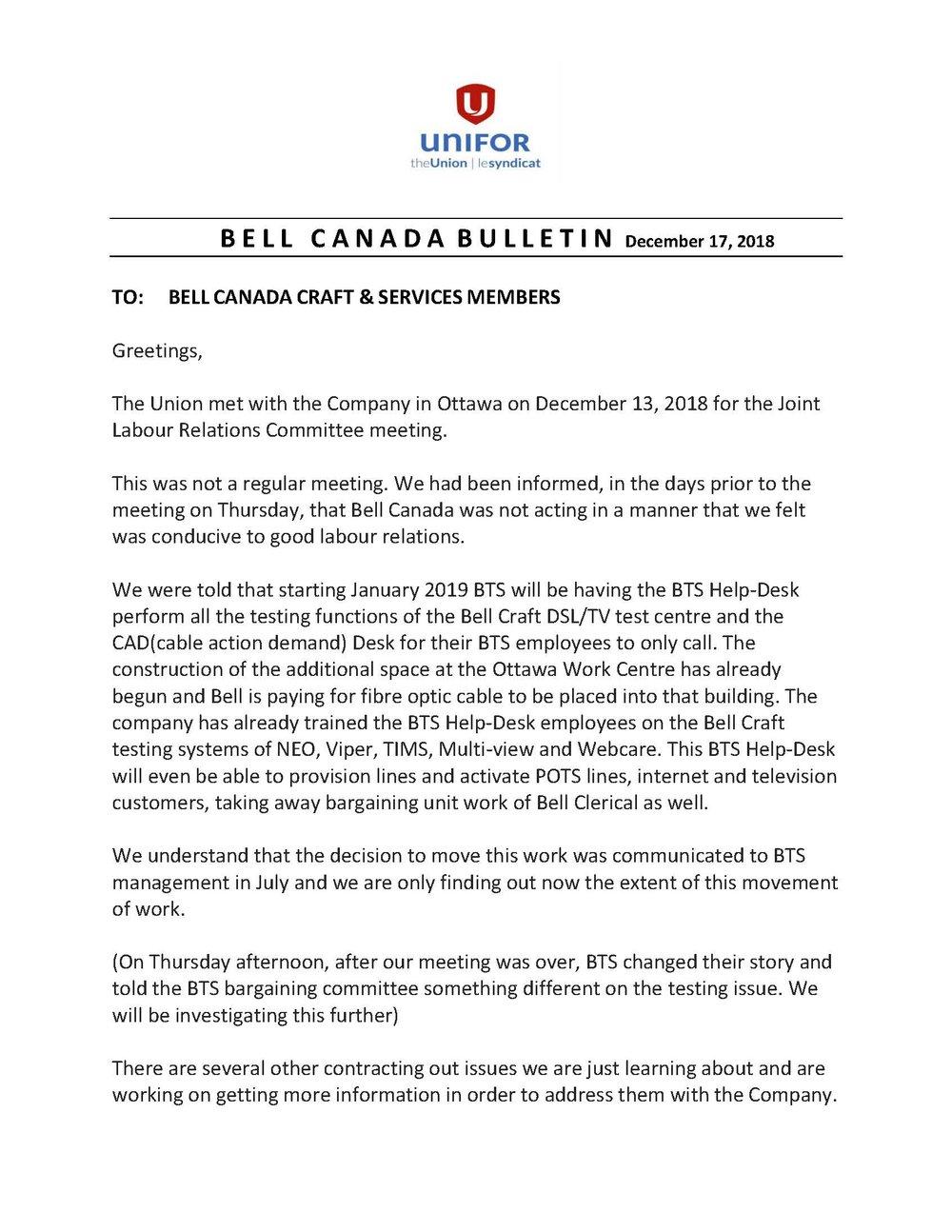 Bulletin Bell Canada Craft & Services - December 2018.jpg
